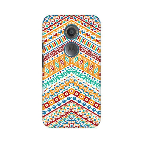 Wavy Ethnic Art Motorola Moto X2 Phone Cover