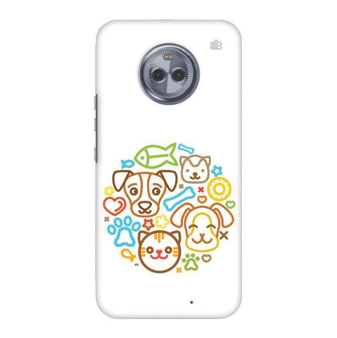Cute Pets Motorola Moto X4 Phone Cover