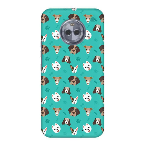 Doggie Pattern Motorola Moto X4 Phone Cover