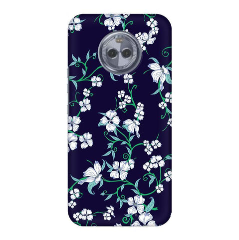 Dogwood Floral Pattern Motorola Moto X4 Phone Cover