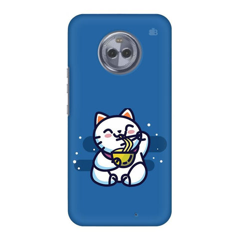 KItty eating Noodles Motorola Moto X4 Phone Cover