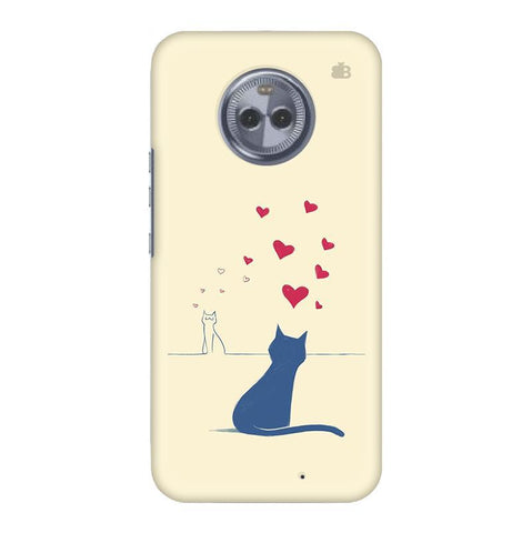 Kitty in Love Motorola Moto X4 Phone Cover