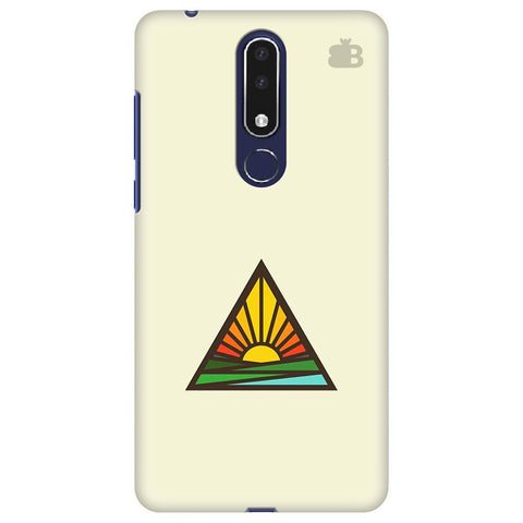 Triangular Sun Nokia 3.1 Plus Cover