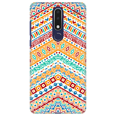 Wavy Ethnic Art Nokia 3.1 Plus Cover
