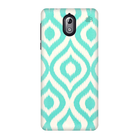 Cyan Ikat Nokia 3 Phone Cover