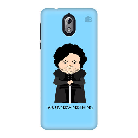 You Know Nothing Nokia 3 Phone Cover