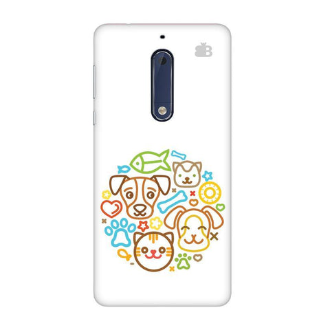 Cute Pets Nokia 5 Phone Cover