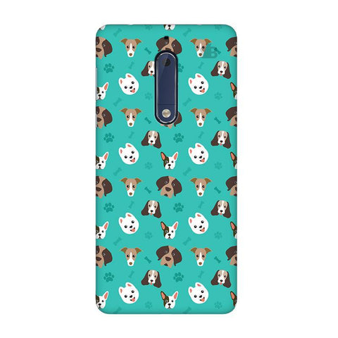 Doggie Pattern Nokia 5 Phone Cover