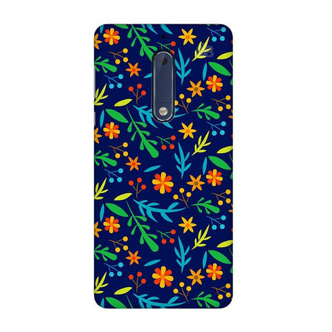 Vibrant Floral Pattern Nokia 5 Phone Cover
