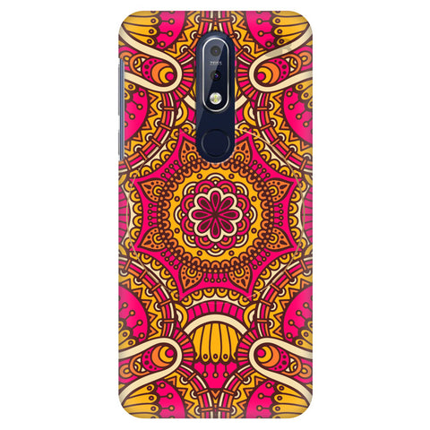 Colorful Ethnic Art Nokia 7.1 Cover