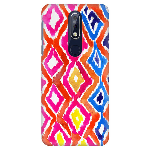 Colorful Ikat Nokia 7.1 Cover