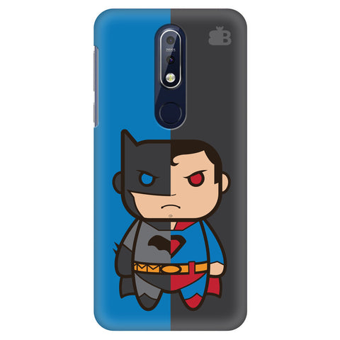 Cute Superheroes Annoyed Nokia 7.1 Cover
