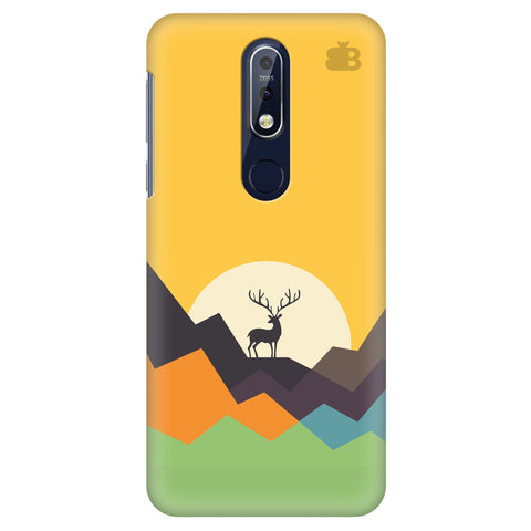 Deer in Mountains Nokia 7.1 Cover