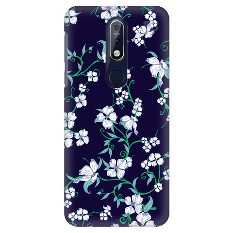 Dogwood Floral Pattern Nokia 7.1 Cover