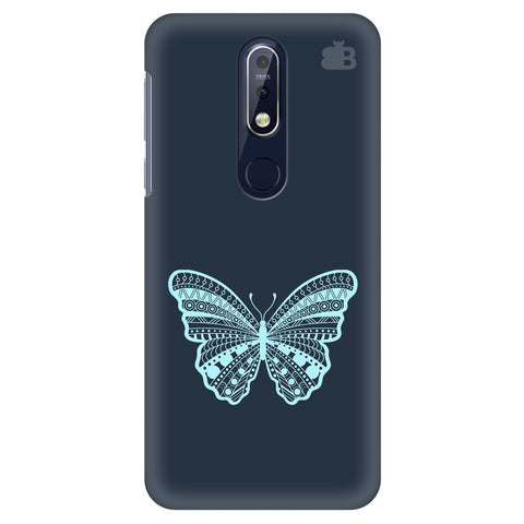 Ethnic Butterfly Art Nokia 7.1 Cover