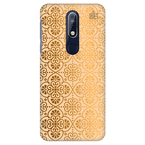 Ethnic Gold Ornament Nokia 7.1 Cover