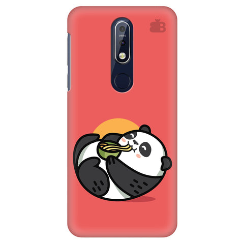 Panda eating Noodles Nokia 7.1 Cover