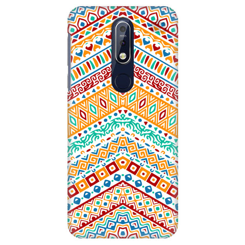 Wavy Ethnic Art Nokia 7.1 Cover
