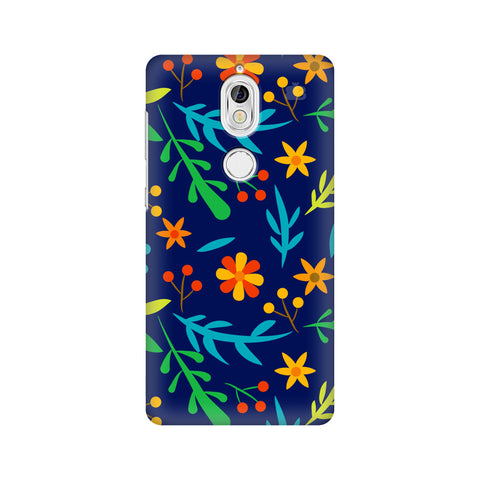 Vibrant Floral Pattern Nokia 7 Cover