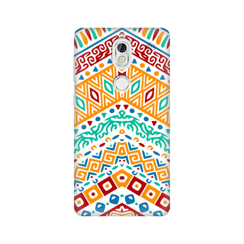 Wavy Ethnic Art Nokia 7 Cover