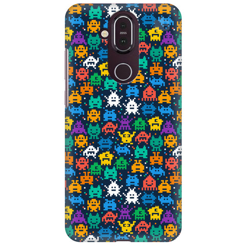 16 Bit Pattern Nokia 8.1 Cover