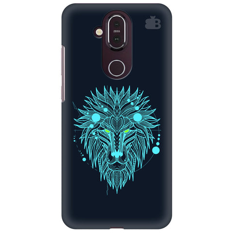 Abstract Art Lion Nokia 8.1 Cover