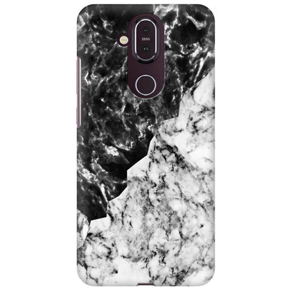 Black White Marble Nokia 8.1 Cover