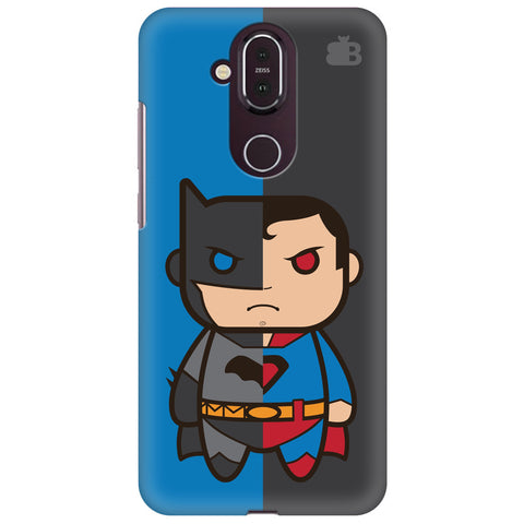 Cute Superheroes Annoyed Nokia 8.1 Cover