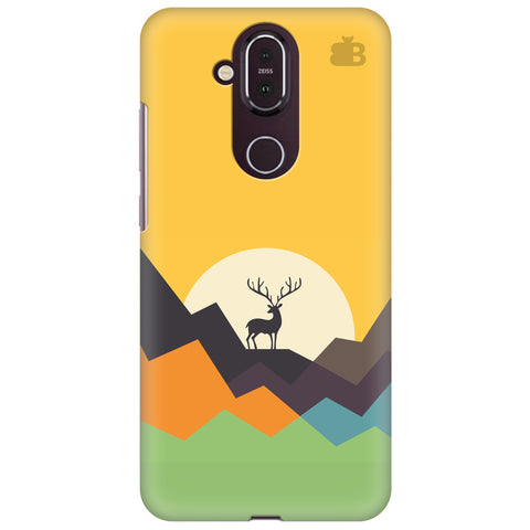Deer in Mountains Nokia 8.1 Cover