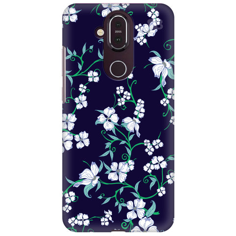 Dogwood Floral Pattern Nokia 8.1 Cover
