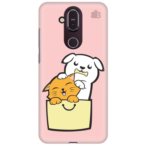 Kitty Puppy Buddies Nokia 8.1 Cover
