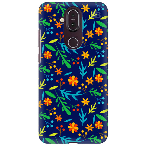 Vibrant Floral Pattern Nokia 8.1 Cover