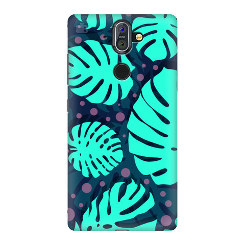 Tropical Leaves Pattern Nokia 8 Sirocco Cover