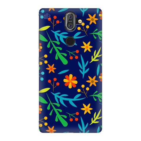 Vibrant Floral Pattern Nokia 8 Sirocco Cover