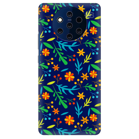 Vibrant Floral Pattern Nokia 9 Cover