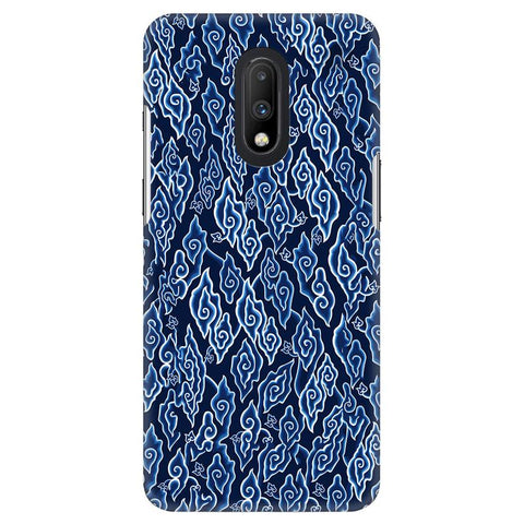 Blue Batic Art OnePlus 7 Cover