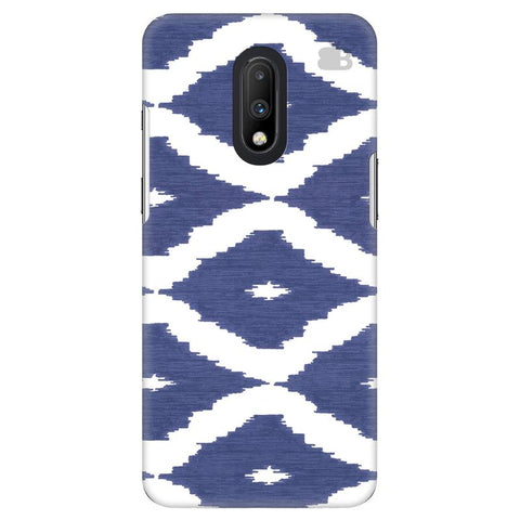 Blue Ikat OnePlus 7 Cover