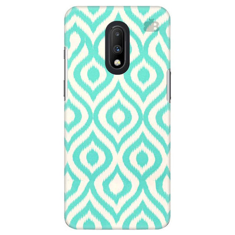 Cyan Ikat OnePlus 7 Cover