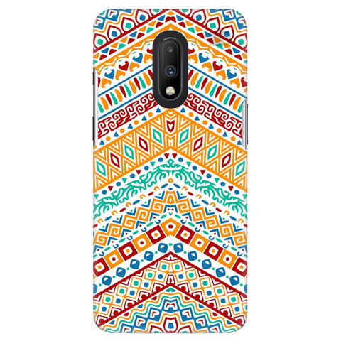 Wavy Ethnic Art OnePlus 7 Cover