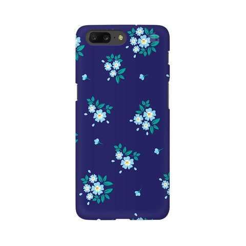 Blue Floral Pattern OnePlus 5 Phone Cover