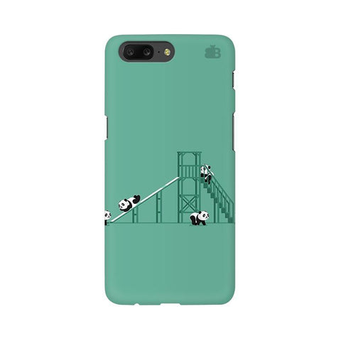 Pandas Playing OnePlus 5 Phone Cover
