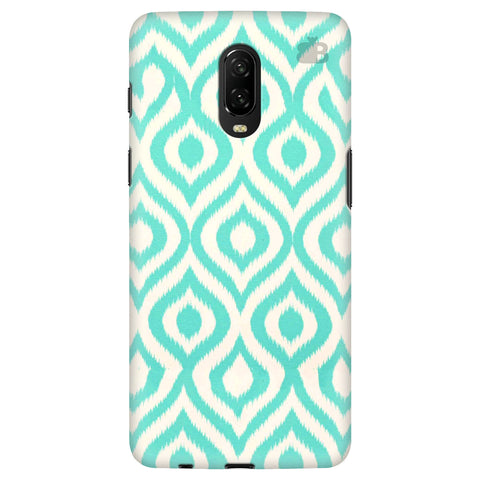 Cyan Ikat OnePlus 6T Cover