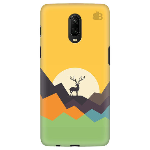 Deer in Mountains OnePlus 6T Cover