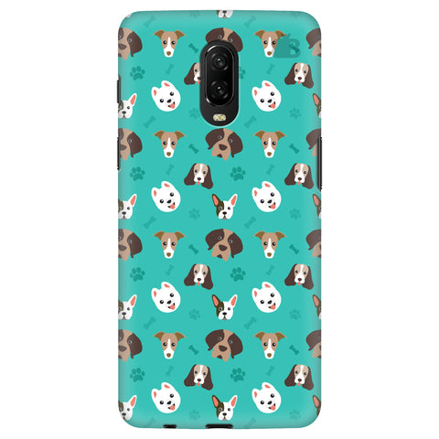 Doggie Pattern OnePlus 6T Cover
