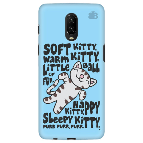 Soft Kitty OnePlus 6T Cover