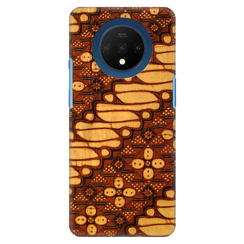 Brown Batik Oneplus 7T Cover