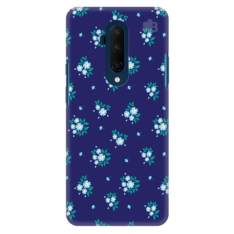 Blue Floral Pattern Oneplus 7T Pro Cover