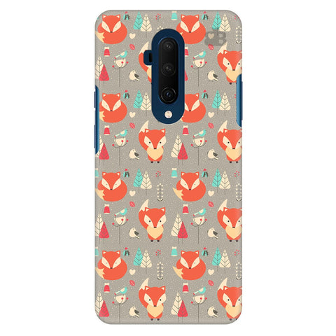 Foxy Pattern Oneplus 7T Pro Cover