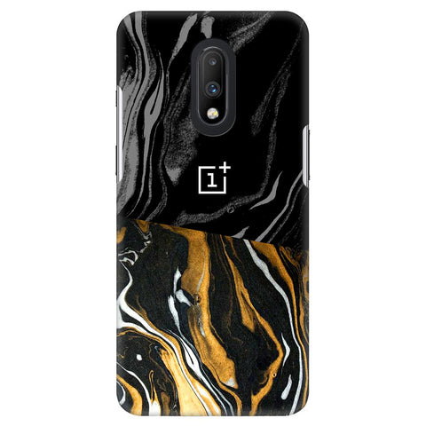 Black Gold Cut OnePlus 7 Cover