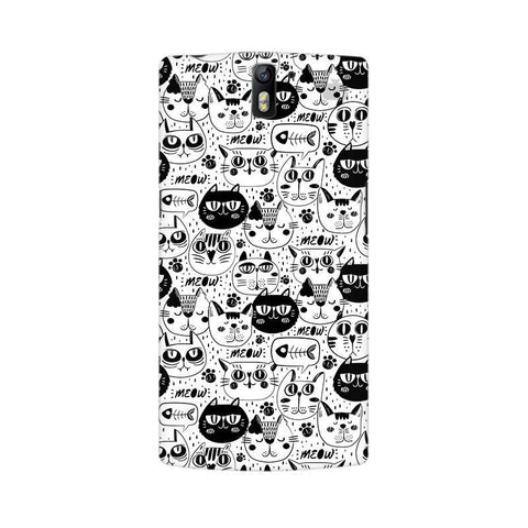 Cute Cats Pattern OnePlus One Phone Cover